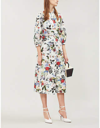 Erdem Adrienne floral-print cotton-poplin midi dress