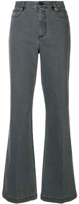 Fendi high-waisted flared jeans