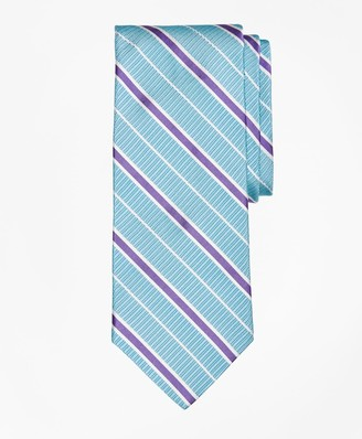 Brooks Brothers Textured Ground BB#2 Stripe with Pinstripe Tie