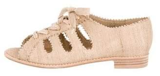 Stuart Weitzman Peep-Toe Cutout Sandals