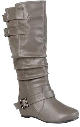 Co Brinley Women Buckle Detail Wide Calf Boots