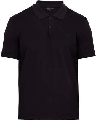 Lanvin Logo-embroidered cotton polo shirt