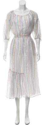 Apiece Apart Striped Maxi Dress w/ Tags