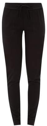 Skin - Cuffed Cotton Jersey Pyjama Trousers - Womens - Black