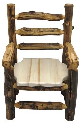 Mountain Woods Furniture Aspen Grizzly Solid Wood Dining Chair Mountain Woods Furniture