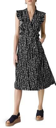 Whistles Savannah Print Wrap Dress