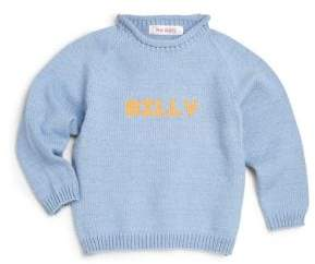 MJK Knits Personalized Baby's, Toddler's& Kid's Cotton Pullover Sweater