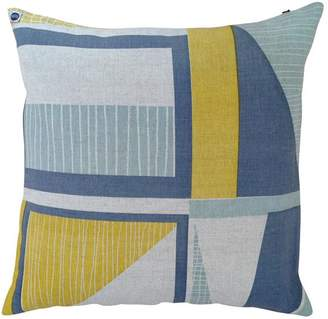 Yellow Front Door Abstract Cushion Cover