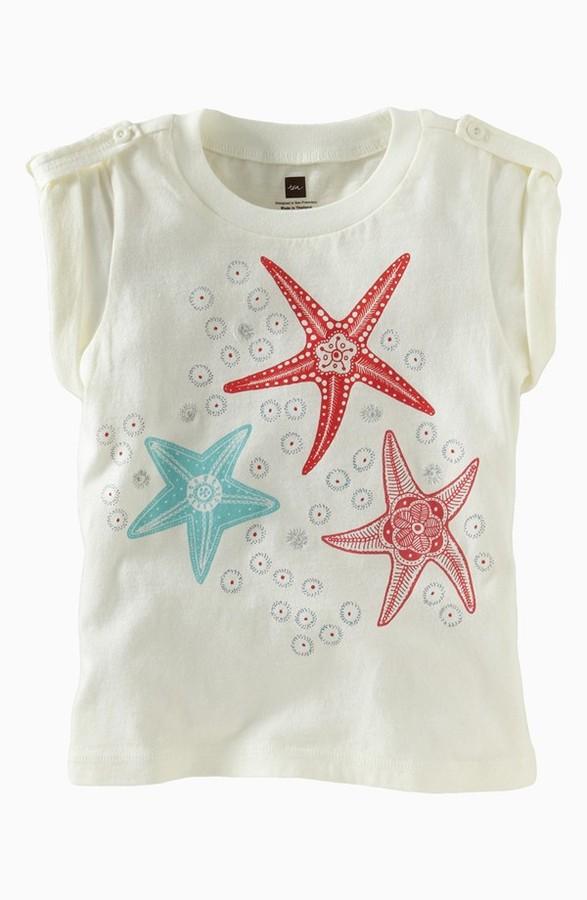 Tea Collection 'Sea Star' Tee (Little Girls & Big Girls)