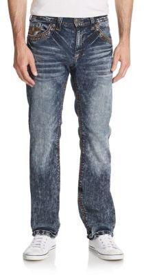 Blake Standard Acid Wash Straight Leg Jeans $135 thestylecure.com