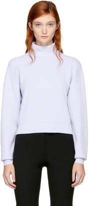 Carven Blue Cropped Turtleneck