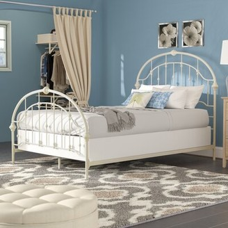 Three Posts Martinsburg Panel Bed Size: Full, Color: Antique White