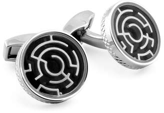 Tateossian Black Maze Cufflinks