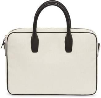 0731f3c1809 Mansur Gavriel Canvas Small Briefcase - Creme/Black