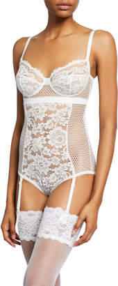 Else Petunia Underwire Lace Bodysuit with Garter Straps