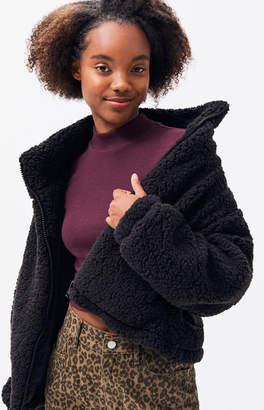 LA Hearts Black Sherpa Jacket