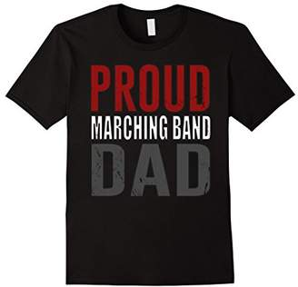 Mens Awesome Men's Proud Marching Band Dad distressed T-shirt