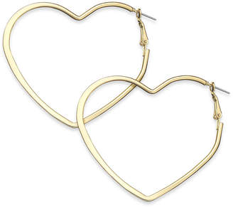 "Thalia Sodi Extra Large 2.6"" Flat Heart Hoop Earrings"