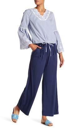 Laundry by Shelli Segal Wide Leg Lace-Up Detailed Pants