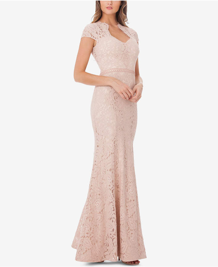 JS Collections Sweetheart Lace Mermaid Gown - ShopStyle Evening