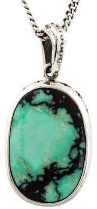 King Baby Studio Turquoise Cross Motif Pendant Necklace