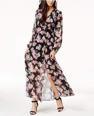 INC International Concepts I.n.c. Long-Sleeve Floral-Print Maxi Dress, Created for Macy's