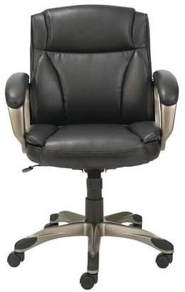 Latitude Run Kraemer Ergonomic Genuine Leather Executive Chair Upholstery