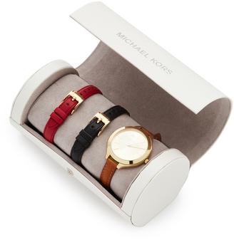 Michael Kors Slim Runway Watch Gift Set $250 thestylecure.com