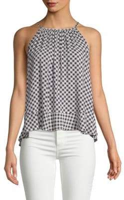 Viscose Gingham Halter Top