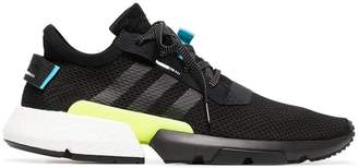 adidas black, blue and yellow pod-s3.1 sneakers