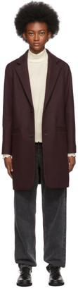 A.P.C. Burgundy Carver Coat