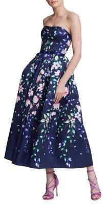 Marchesa Floral Fit-&-Flare Dress