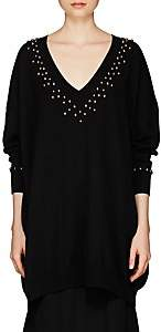 Givenchy Women's Studded Wool-Cashmere Oversized Sweater - Black