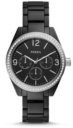 Fossil Caleigh Multifunction Black Acetate Watch