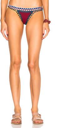 Kiini Soley Bikini Bottom in Red Multi | FWRD