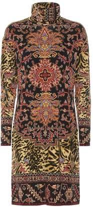 Etro Printed jersey turtleneck dress