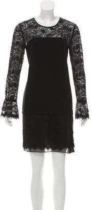 Diane von Furstenberg Lace-Trimmed Lavana Dress