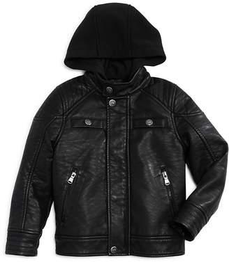 Urban Republic Boys' Hooded Faux-Leather Jacket - Little Kid, Big Kid