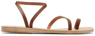 Ancient Greek Sandals Brown Apli Eleftheria Sandals