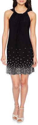 MSK Sleeveless Beaded Shift Dress