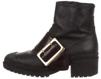 Burberry Buckle Ankle Boots