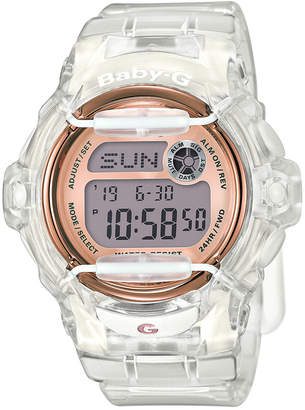 Baby-G Women's Digital Clear Resin Strap Watch 45x42mm BG169G-7B
