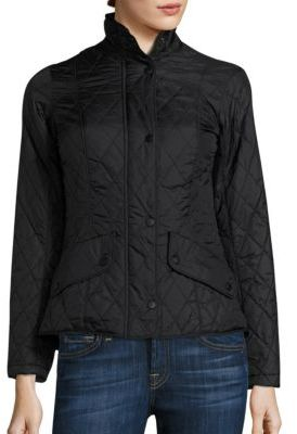 Barbour Flyweight Cavalry Quilted Jacket $199 thestylecure.com