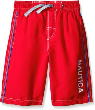 Nautica Little Boys Marled D-String with Side Piping Swim Trunk