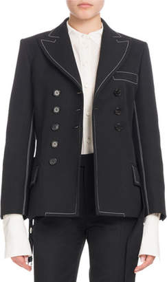 Chloé Double-Breasted Self-Belt Wool-Blend Jacket
