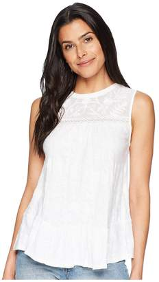 Lucky Brand Tiered Jacquard Tank Top Women's Clothing