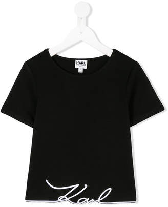 Karl Lagerfeld embroidered logo T-shirt
