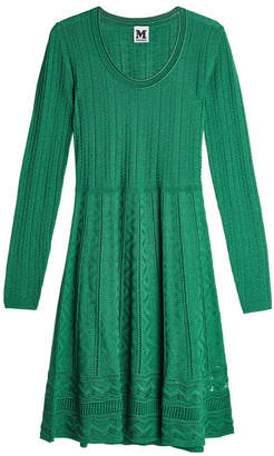 M Missoni Knit Dress with Virgin Wool