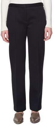 The Row Tanea Flat-Front Straight-Leg Pants