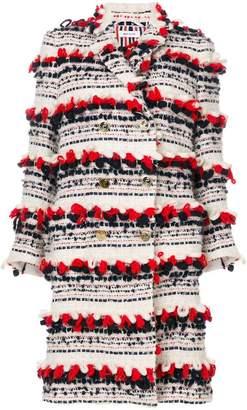 Thom Browne Tartan Tweed Sack Overcoat